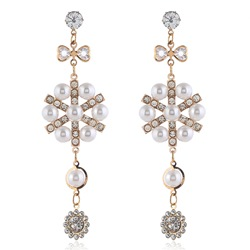 Alloy Diamante Sweet Gift Earrings