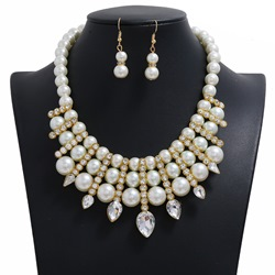 Diamante Vintage Necklace Wedding Jewelry Sets
