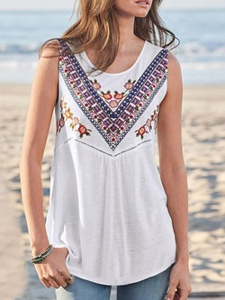 Suspenders Polyester Summer Mid-Length Women's Tank Top