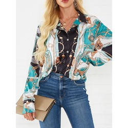 Print Long Sleeve Women's Blouse