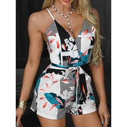 Shorts Sexy Print Slim Women's Jumpsuit