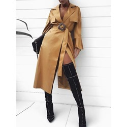 Long Lace-Up Loose Women's Trench Coat