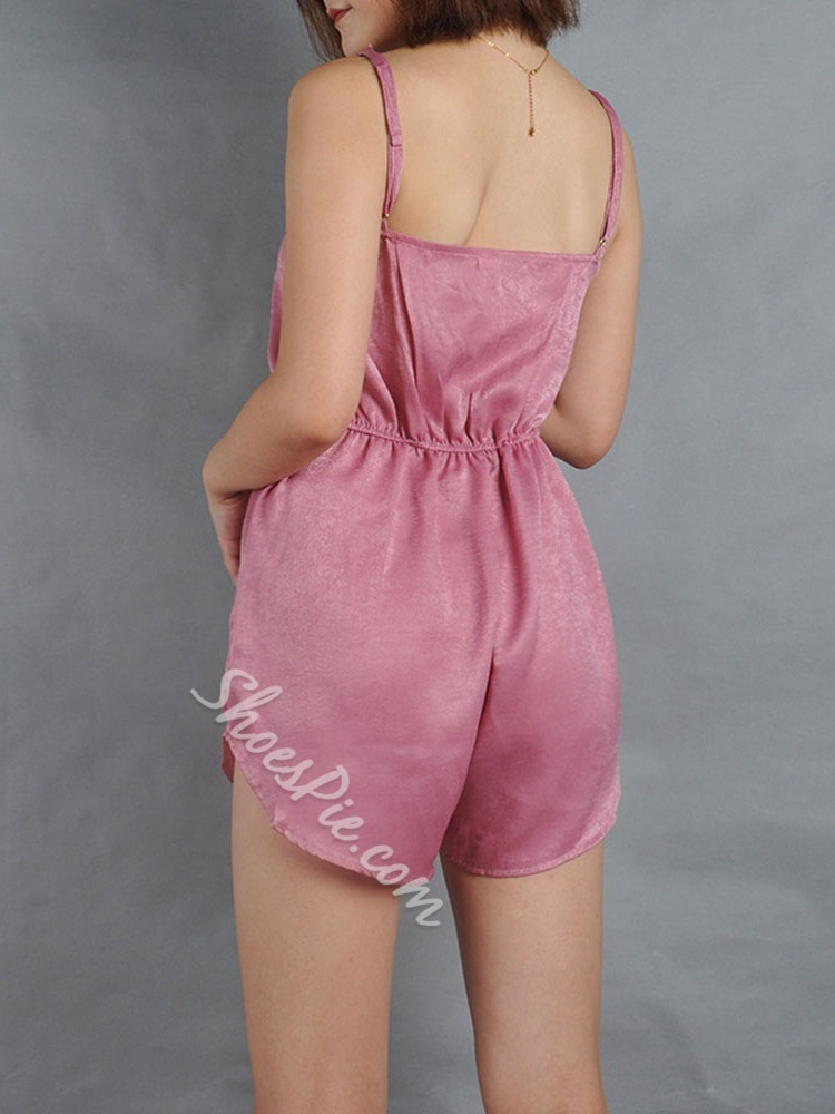 Casual Shorts Plain Slim Women's Jumpsuit