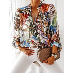 Print Long Sleeve Women's Shirt