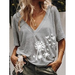 Standard Short Sleeve Loose Women's T-Shirt