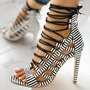 Shoespie Sexy Zipper Heel Covering Stiletto Heel Mid-Cut Upper Sandals