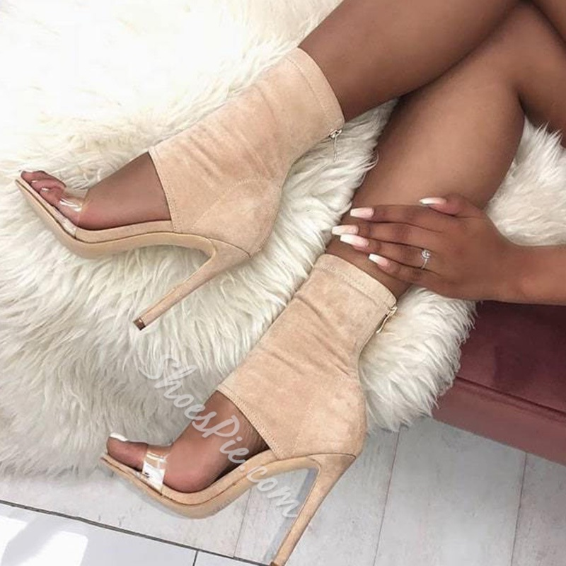 Shoespie Stylish Stiletto Heel Heel Covering Open Toe Plain Sandals