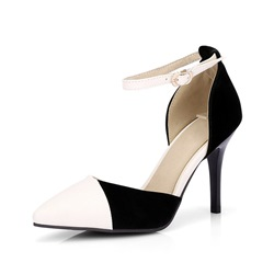 Shoespie Trendy Pointed Toe Heel Covering Stiletto Heel Low-Cut Upper Sandals