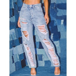 Hole Harem Pants Loose Women's Jeans