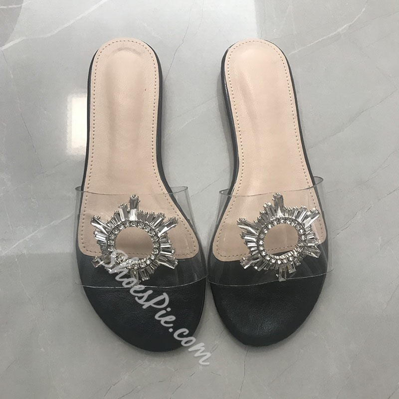 Shoespie Trendy Slip-On Rhinestone Flat With Spring Slippers
