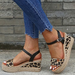 Shoespie Trendy Open Toe Buckle Wedge Heel Low-Cut Upper Sandals