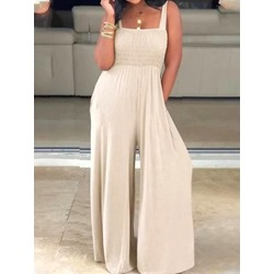 Plain Western Full Length Loose Women's Jumpsuit