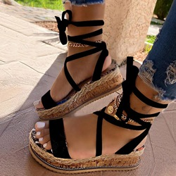 Shoespie Sexy Platform Lace-Up Strappy Cross Strap Sandals