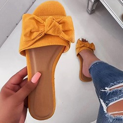 Shoespie Trendy Flip Flop Bow Flat With Summer Slippers