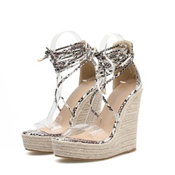Shoespie Sexy Open Toe Heel Covering Lace-Up Casual Sandals