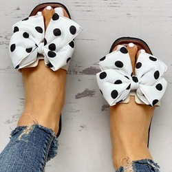Shoespie Stylish Flat With Slip-On Flip Flop Polka Dot Slippers
