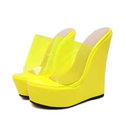 Shoespie Sexy Flip Flop Wedge Heel Platform Casual Slippers