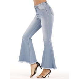 Pocket Bellbottoms Zipper With Pocket Women's Jeans