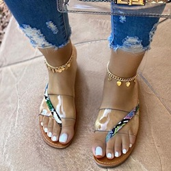 Shoespie Sexy Slip-On Serpentine Thong PVC Slippers