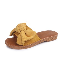 Shoespie Sexy Thread Flip Flop Slip-On Plain Slippers