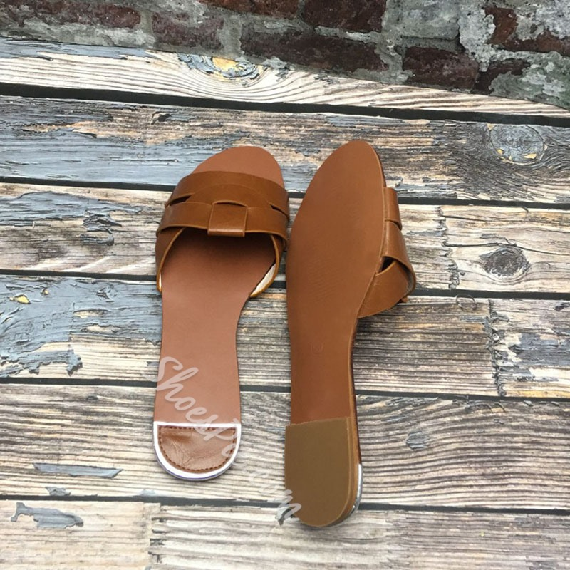 Shoespie Sexy Flat With Woven Flip Flop Summer Slippers
