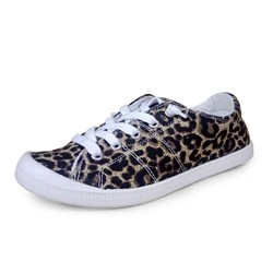 Shoespie Trendy Lace-Up Print Round Toe Flat Heel(≤1cm) Thin Shoes
