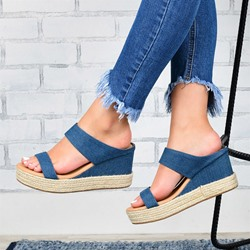 Shoespie Trendy Wedge Heel Platform Flip Flop Spring Slippers