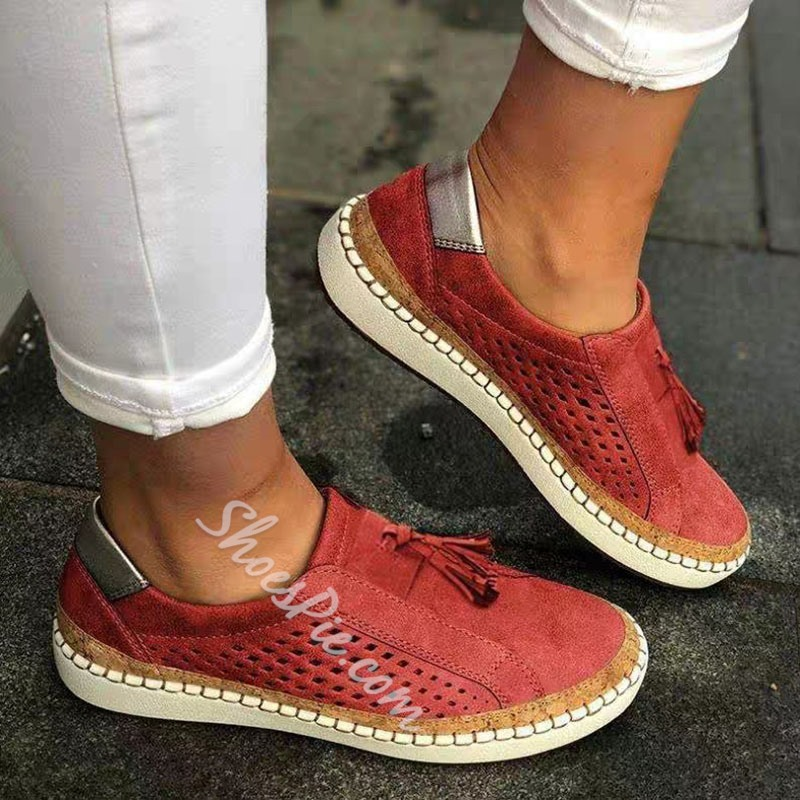 Shoespie Sexy Slip-On Thread Flat With Flat Heel(≤1cm) Thin Shoes