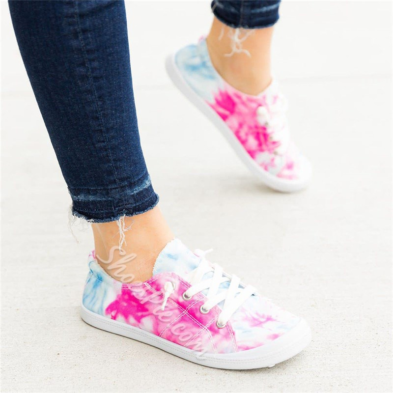 Shoespie Stylish Thread Flat With Round Toe Color Block Thin Shoes
