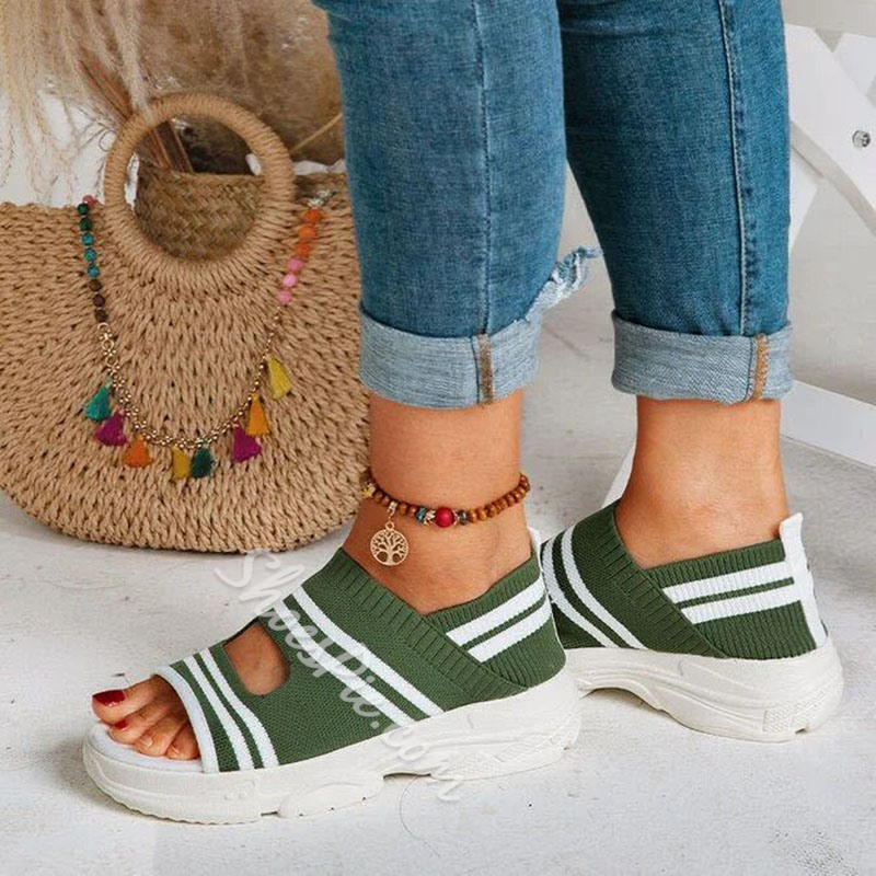 Shoespie Stylish Open Toe Flat With Slip-On Low-Cut Upper Sandals