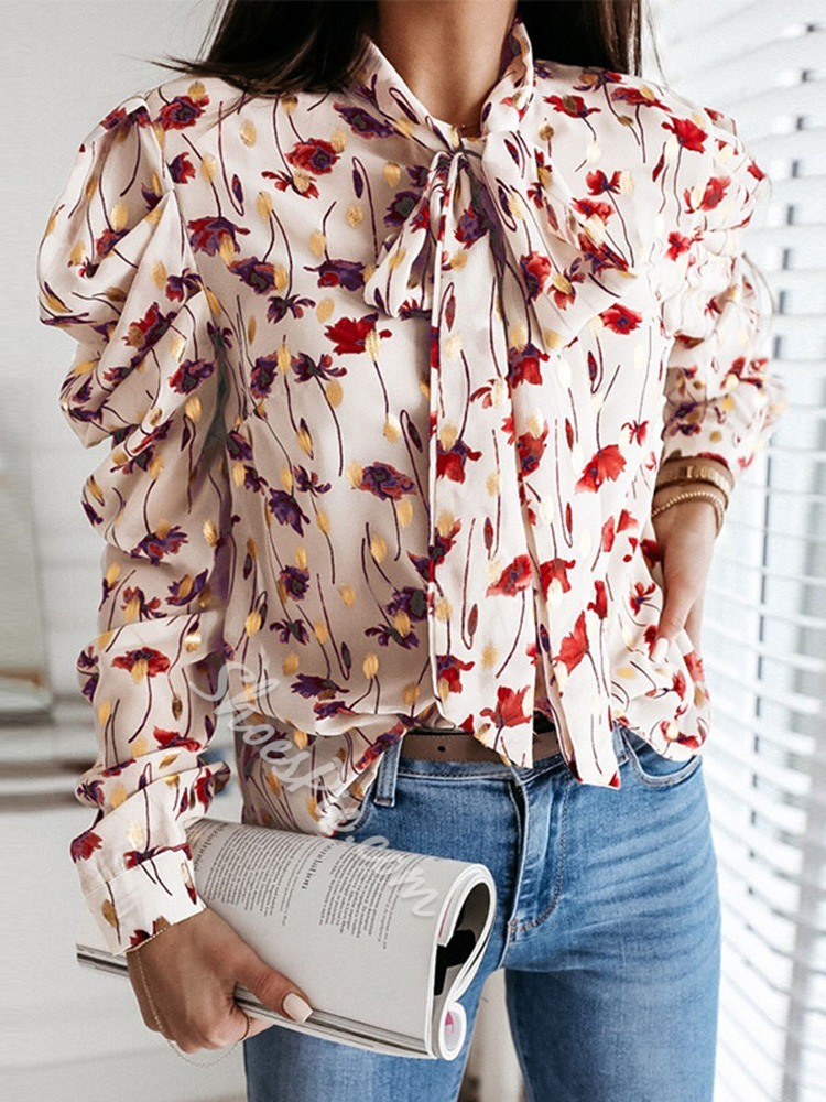 Print Regular Floral Long Sleeve Women's Blouse