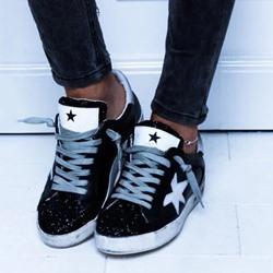 Shoespie Sexy Round Toe Low-Cut Upper Appliques Star Sneakers