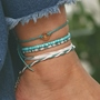 European E-Plating Color Block Anklets Anklets