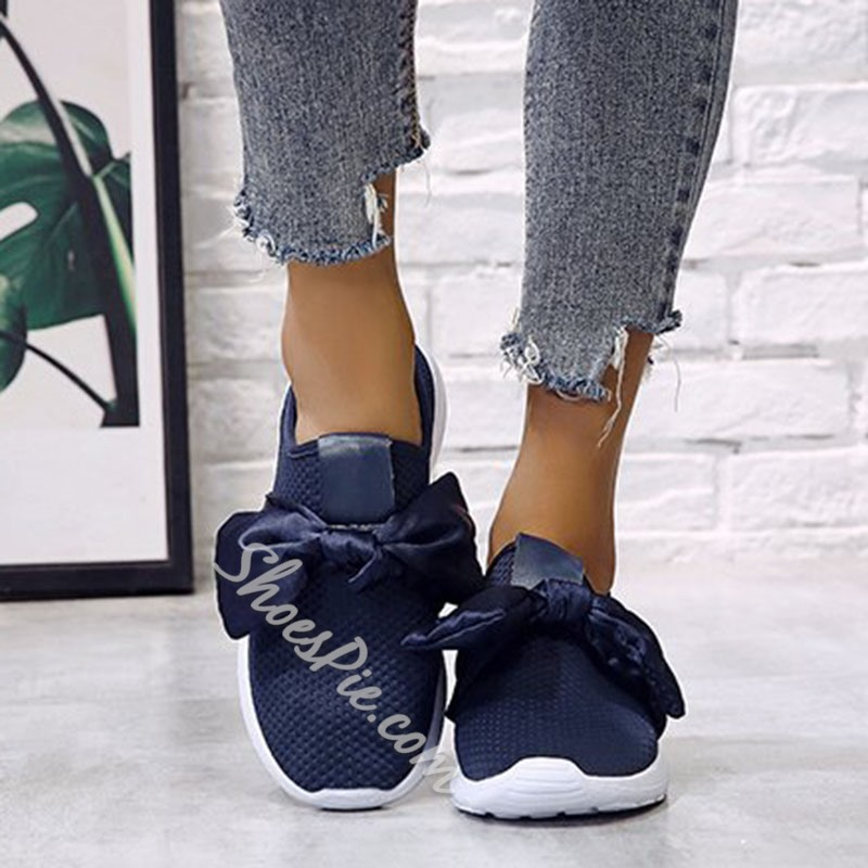 Shoespie Trendy Flat With Round Toe Bow Casual Thin Shoes