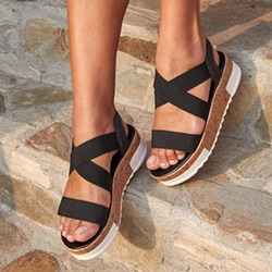 Shoespie Stylish Platform Slip-On Open Toe Platform Sandals