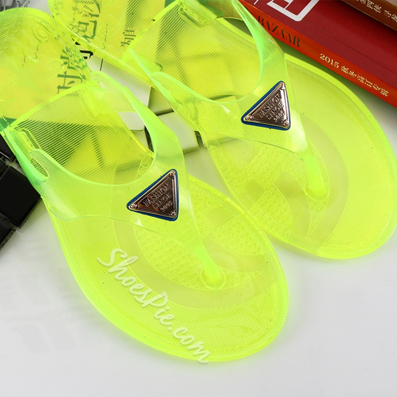 Shoespie Sexy Thong Slip-On Flat With Casual Slippers