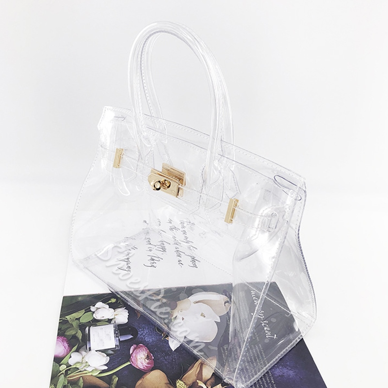 Shoespie PVC Thread Rectangle Tote Bags