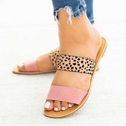 Shoespie Sexy Slip-On Flat With Flip Flop Color Block Slippers