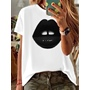 Round Neck Short Sleeve Standard Summer Women's T-Shirt