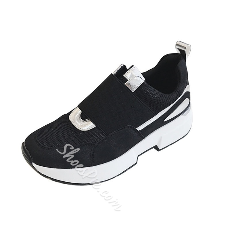 Shoespie Stylish Round Toe Thread Elastic Band Low-Cut Upper Thin Shoes