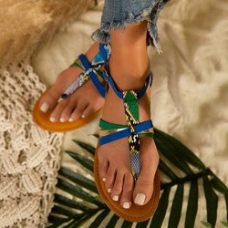 Shoespie Trendy Buckle Flat With Thong Casual Sandals