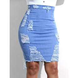 Bodycon Knee-Length Plain Casual Women's Skirt