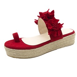 Shoespie Trendy Toe Ring Thread Platform Casual Slippers