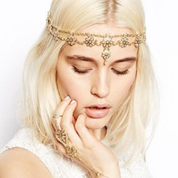Diamante Sweet Head Chain Wedding Hair Accessories