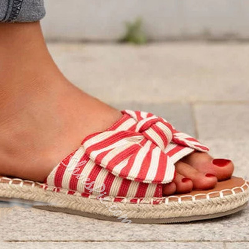 Shoespie Sexy Flat With Slip-On Bow Summer Slippers