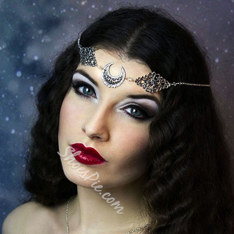 Head Chain Hollow Out Vintage Party Hair Accessories