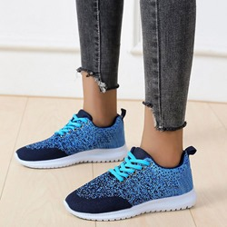 Shoespie Stylish Round Toe Cross Strap Lace-Up Western Sneakers