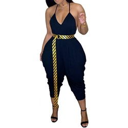 Sports Plain Mid-Calf Slim Women's Jumpsuit
