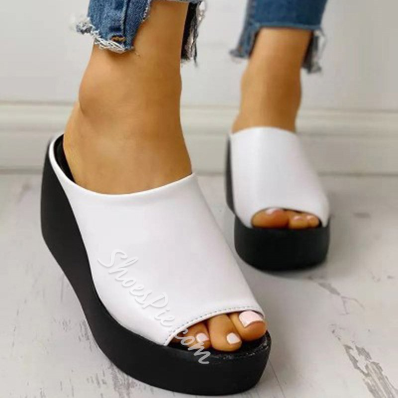 Shoespie Stylish Slip-On Platform Platform Rubber Slippers