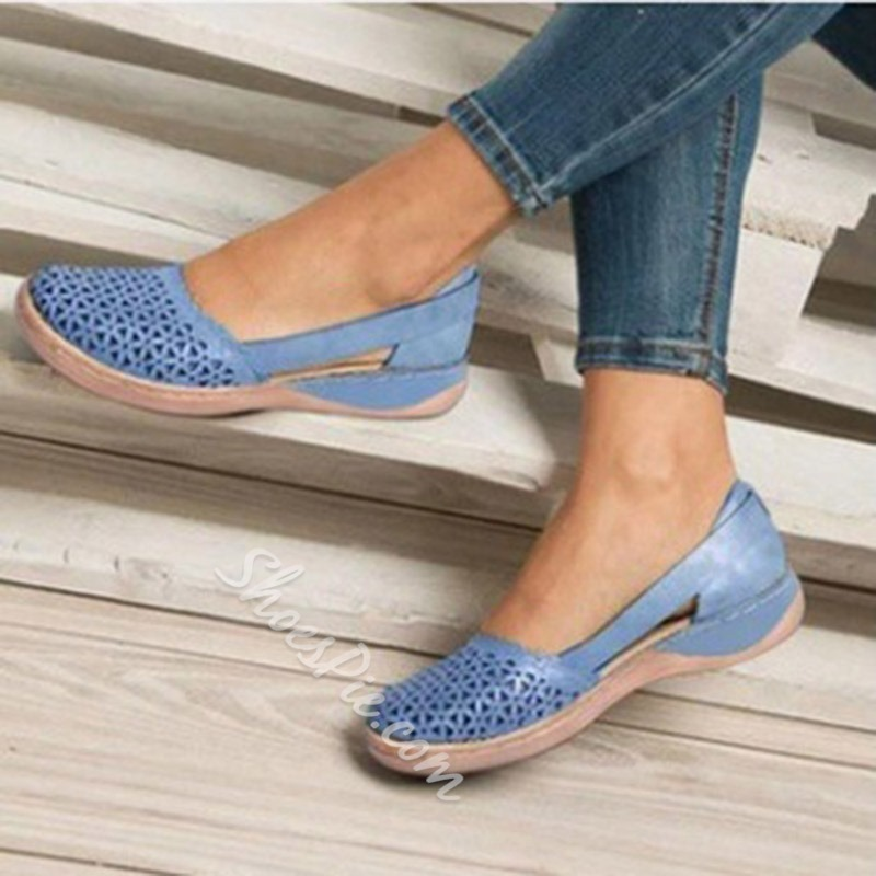 Shoespie Trendy Round Toe Chunky Heel Slip-On Low-Cut Upper Thin Shoes